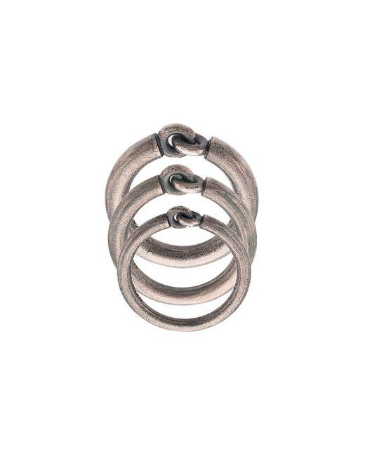 M. Cohen Metallic 'The Solstice' Ring-Set