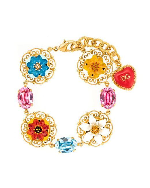 Dolce & Gabbana - Multicolor Flower Pendant Bracelet - Lyst