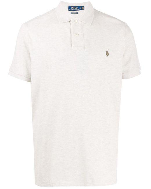 メンズ Polo Ralph Lauren コントラストロゴ ポロシャツ White