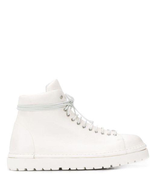 Marsèll White Pallottola Lace-up Boots