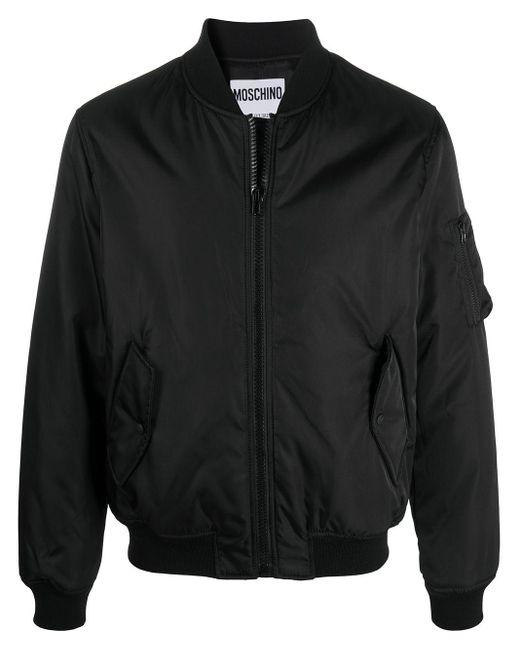 Бомбер На Молнии С Логотипом Moschino для него, цвет: Black