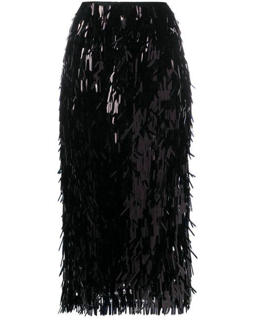 Simone Rocha スパンコール スカート Black