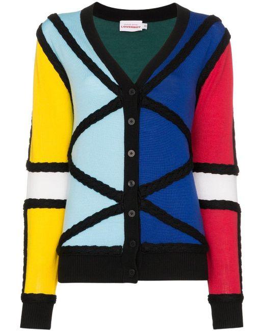 CHARLES JEFFREY LOVERBOY カラーブロック カーディガン Multicolor