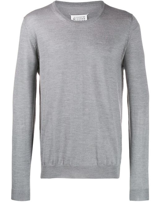 メンズ Maison Margiela ラウンドネックセーター Gray