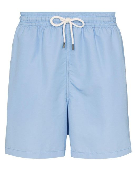 メンズ Polo Ralph Lauren Traveller トランクス水着 Blue