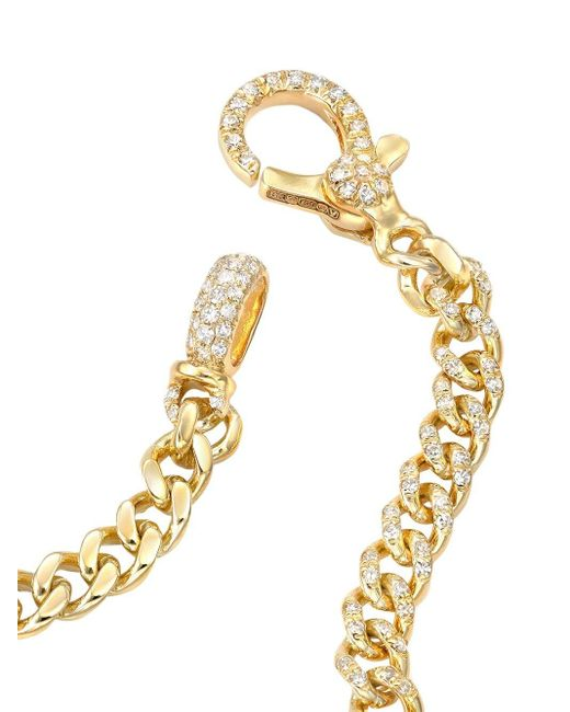 SHAY Baby パヴェダイヤモンド ブレスレット 18kイエローゴールド Metallic