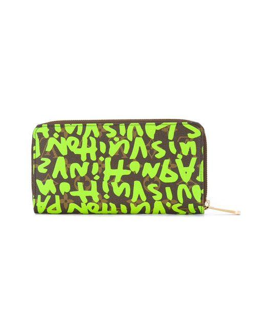 Кошелек На Молнии С Принтом Louis Vuitton, цвет: Brown