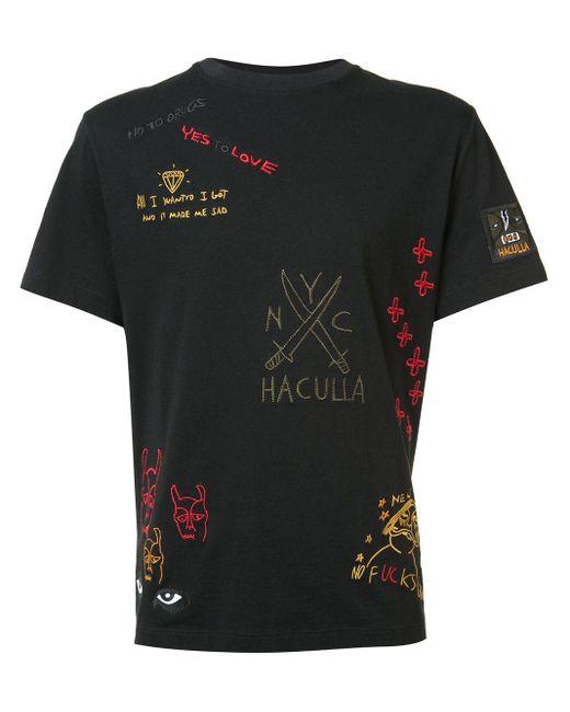 メンズ Haculla プリントtシャツ Black