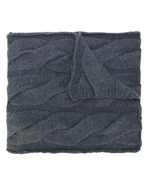 Polo Ralph Lauren | Gray Cable Knit Scarf | Lyst