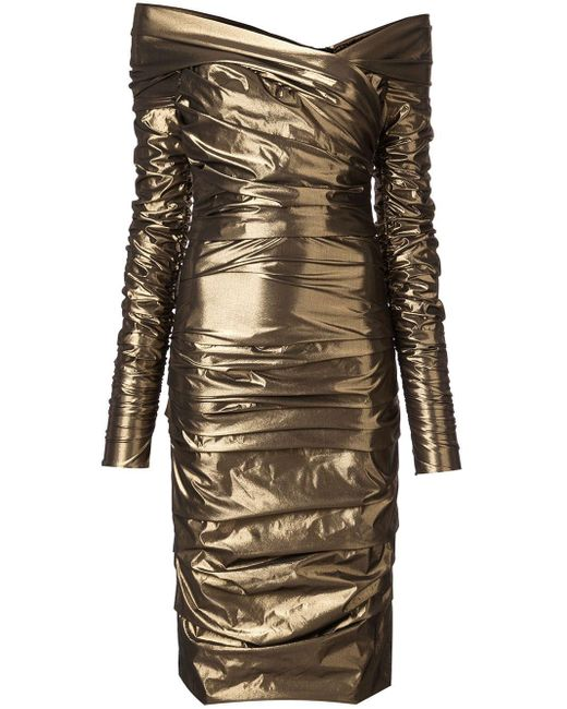 Dolce & Gabbana ドレープ ミディドレス Multicolor