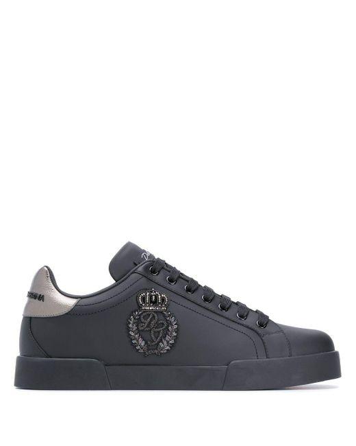 Кеды Portofino Dolce & Gabbana для него, цвет: Black