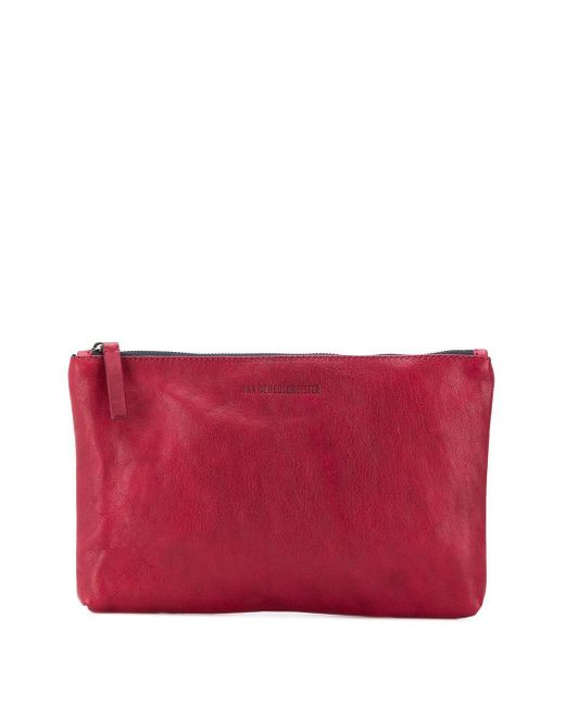 Ann Demeulemeester エンボス クラッチバッグ Red