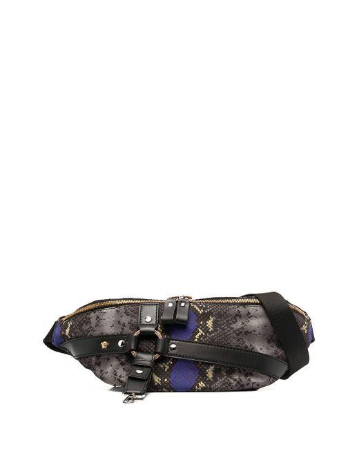 Поясная Сумка Со Змеиным Принтом Versace для него, цвет: Gray