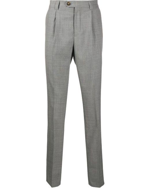 メンズ Brunello Cucinelli テーラードパンツ Gray