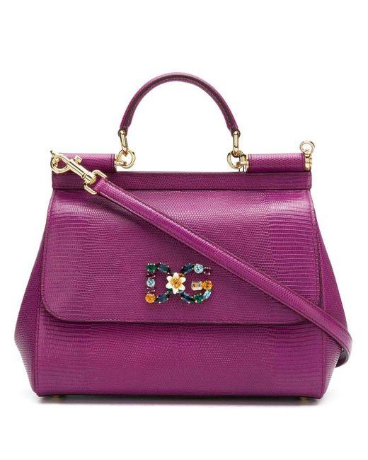 Dolce & Gabbana Sicily ショルダーバッグ S Purple