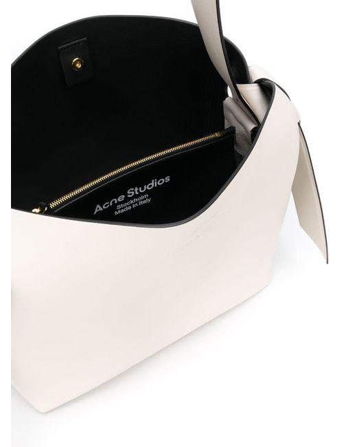 Sac porté épaule Musubi médium Acne en coloris White