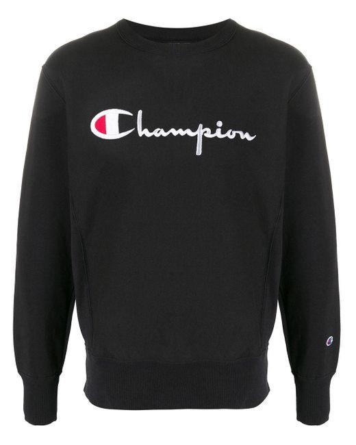 メンズ Champion スウェットシャツ Black