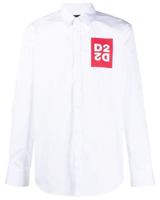 メンズ DSquared² ロゴ シャツ White