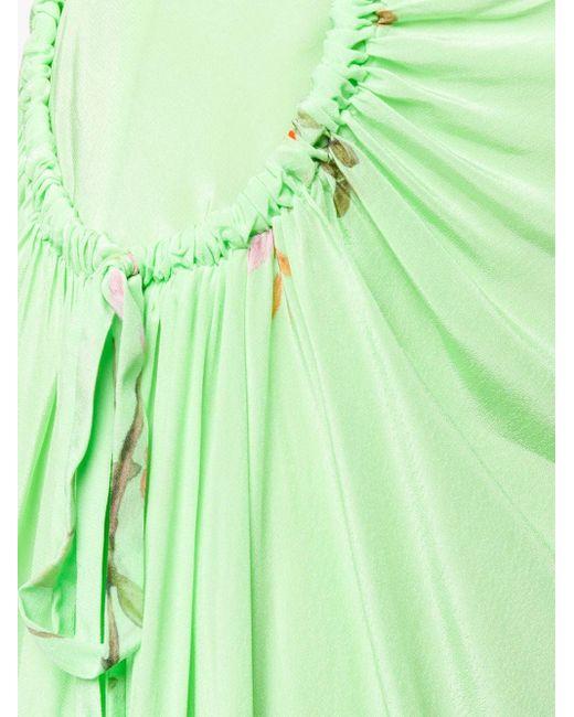 Preen Line Arya フローラル ギャザースカート Green