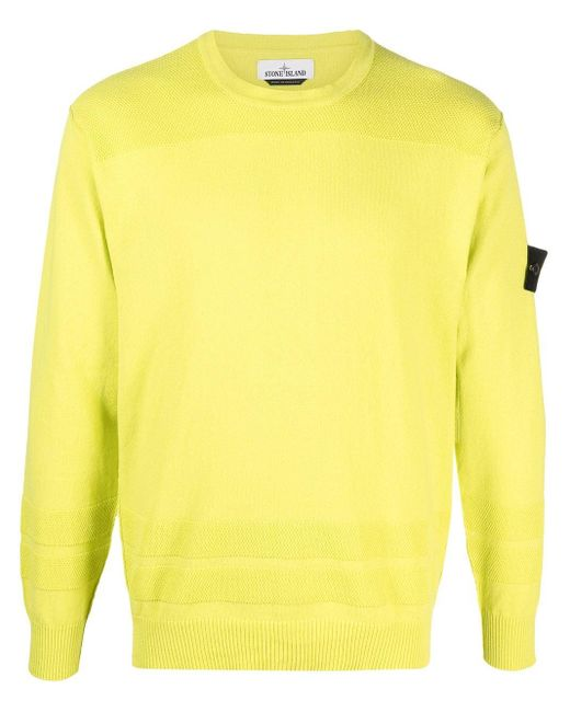 Stone Island Green Logo-patch Long-sleeve Top for men