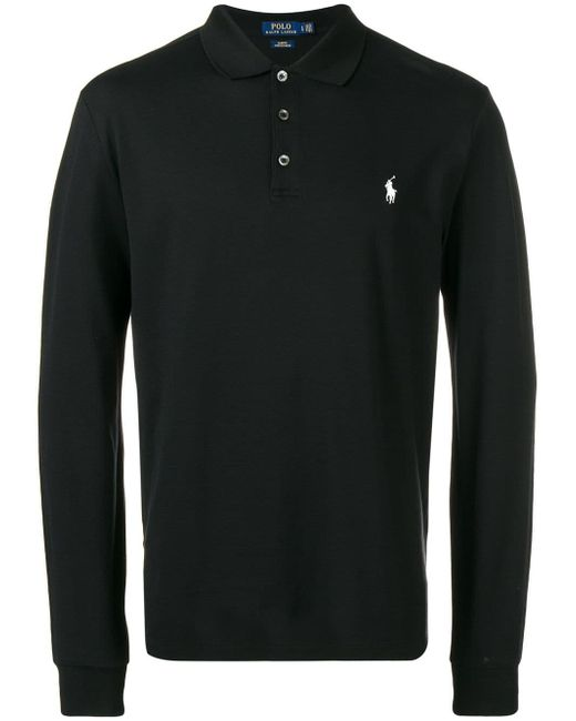 メンズ Polo Ralph Lauren ロングスリーブ ポロシャツ Black