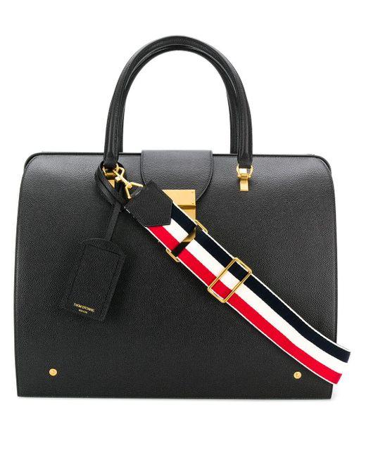 メンズ Thom Browne Pebbled Leather Mr. Thom Bag Black