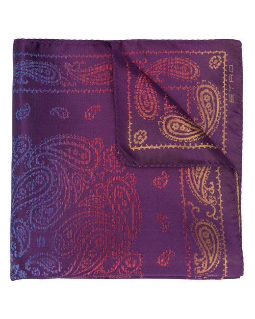 Foulard à motif cachemire Etro pour homme en coloris Purple