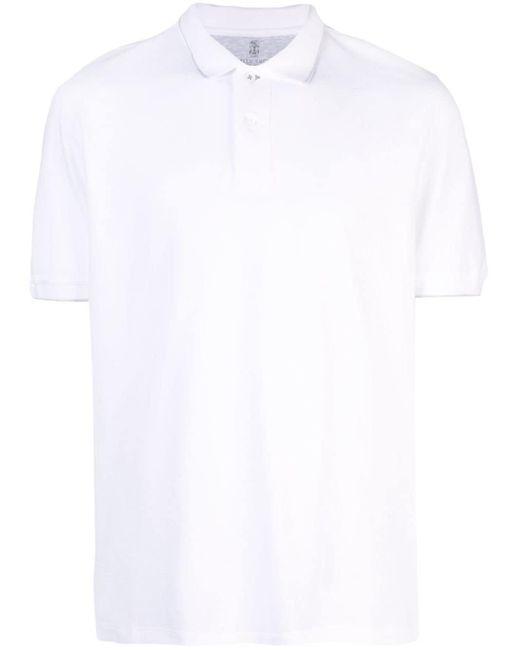 メンズ Brunello Cucinelli ポロシャツ White