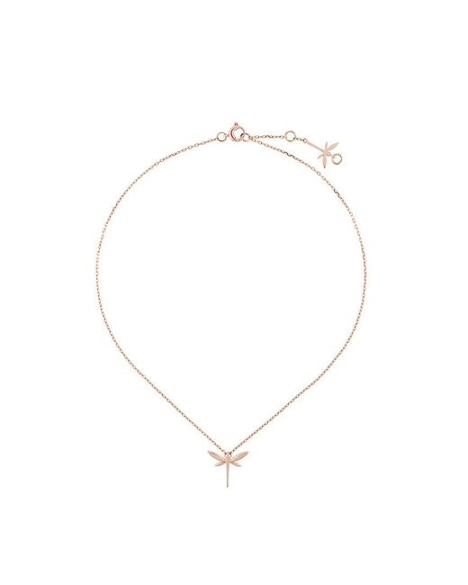 Anapsara - Metallic Mini Dragonfly Necklace - Lyst
