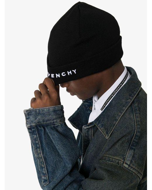 Givenchy ロゴ ビーニー Black