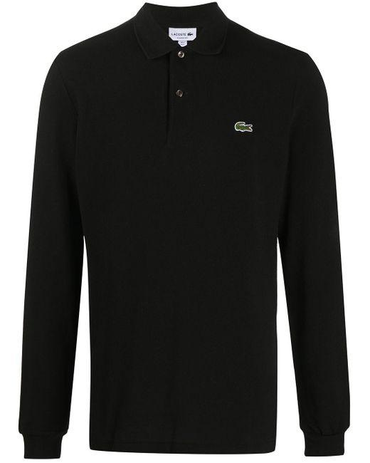 メンズ Lacoste ロゴ ポロシャツ Black