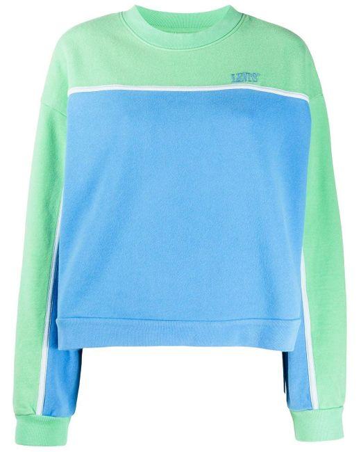 Levi's パネル スウェットシャツ Blue
