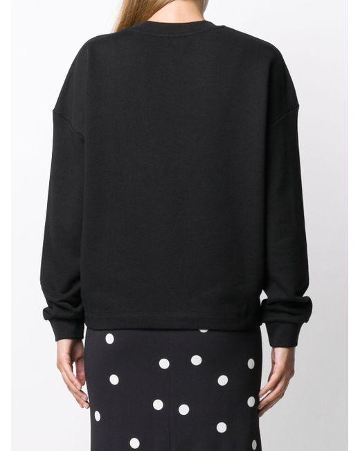 Love Moschino ハートプリント スウェットシャツ Black
