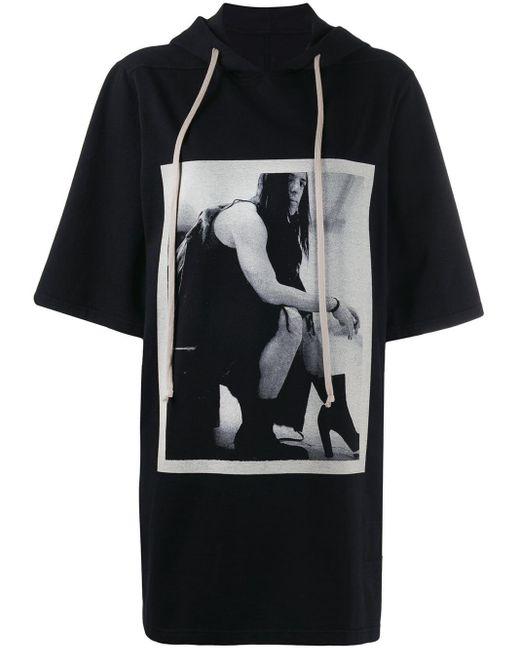 Rick Owens Drkshdw プリント Tシャツ Black
