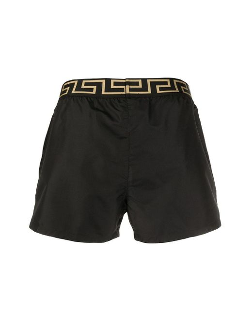 メンズ Versace グレカ ボクサーパンツ Black