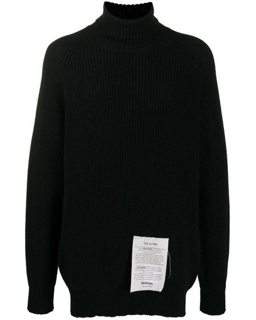 メンズ Ballantyne タートルネック カシミア セーター Black