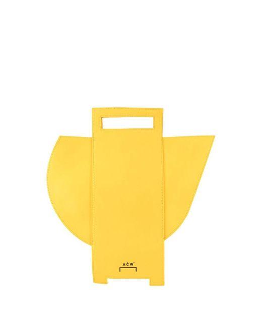A_COLD_WALL* Yellow Asymmetric Tote Bag
