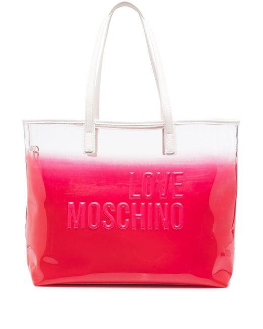Love Moschino エンボス ハンドバッグ Pink
