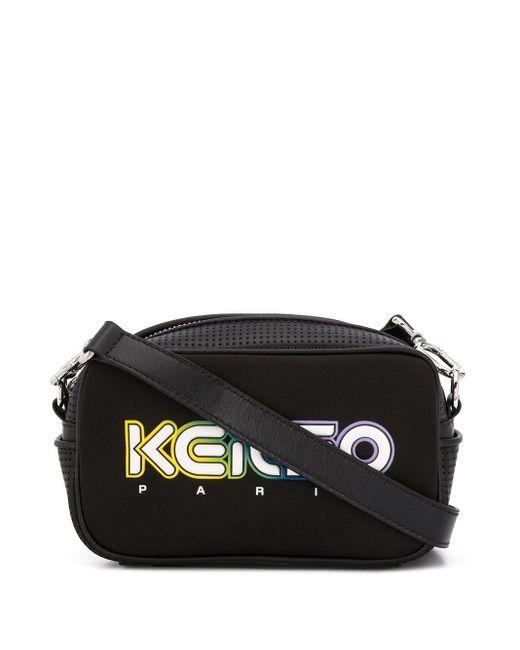 KENZO ロゴ ショルダーバッグ Black