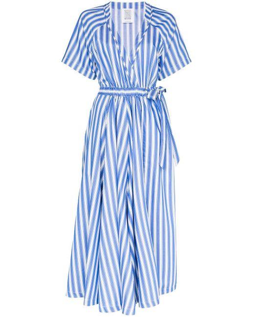 Rosie Assoulin ストライプ レイヤードドレス Blue