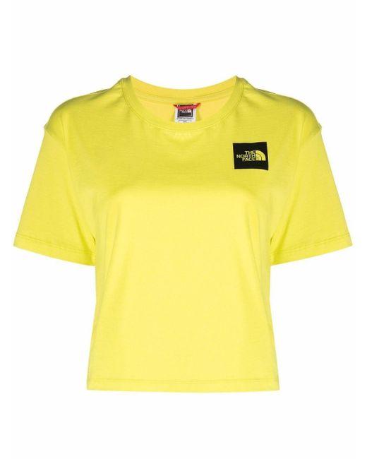 The North Face クロップド Tシャツ Yellow