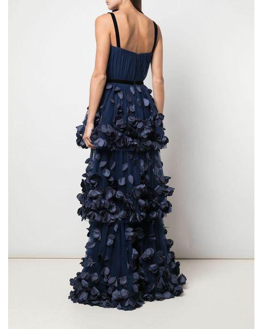 Marchesa notte Blue Abendkleid mit Bustier