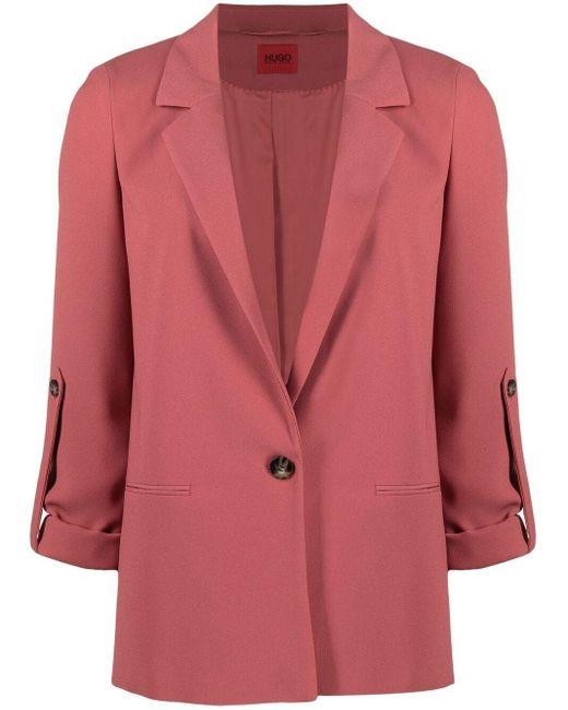 HUGO シングルジャケット Red