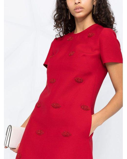 Vestido corto Le Rouge Valentino de color Red