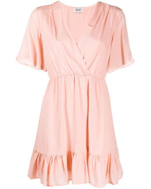 Liu Jo ギャザー ラップドレス Pink