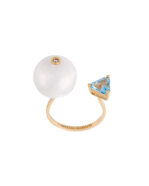 Delfina Delettrez - Metallic 'trillion' Diamond Ring - Lyst