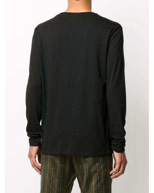メンズ N°21 ロゴ ロングtシャツ Black
