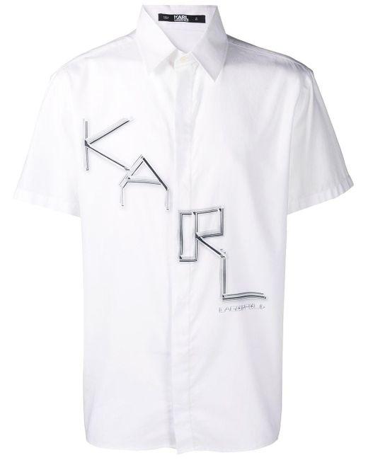 メンズ Karl Lagerfeld ロゴ シャツ White