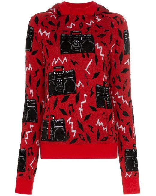 Джемпер Beatbox Вязки Интарсия Saint Laurent, цвет: Red