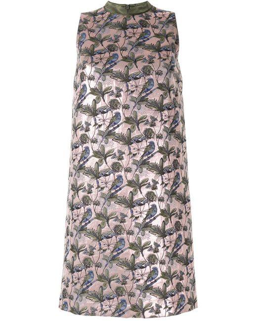 Shanghai Tang フローラルジャカード ドレス Multicolor